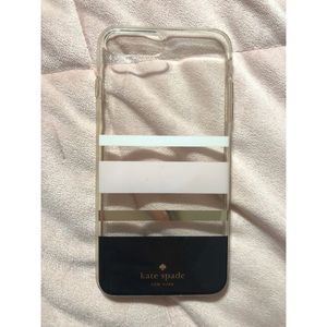 Kate Spade iPhone 8+ Striped Phone Case